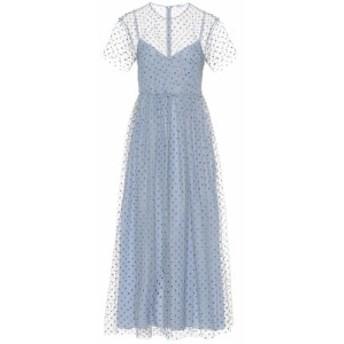 レッド ヴァレンティノ REDValentino レディース ワンピース ミドル丈 ワンピース・ドレス Embellished tulle midi dress Nube