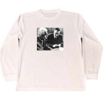 アインシュタイン オッペンハイマー ドライ Tシャツ 物理学 グッズ ロング Tシャツ ロンT