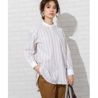 コーエン ブロードバンドカラーロングシャツ(バンドカラーシャツ)# レディース NATURAL FREE 【coen】