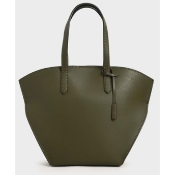 【2020 SPRING 新作】ラージ ジオメトリックトートバッグ / Large Geometric Tote Bag (Olive)