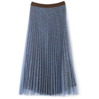 ROSE BUD/ローズ バッド チュールプリーツスカート ブルー -
