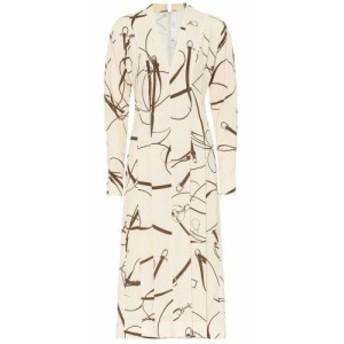 ヴィクトリア ベッカム Victoria Beckham レディース ワンピース ミドル丈 ワンピース・ドレス Printed midi dress Cream/Khaki