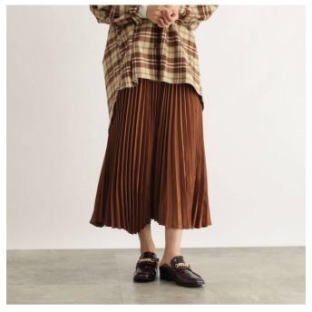 【オゾック/OZOC】 [洗える]アシメヘムプリーツスカート