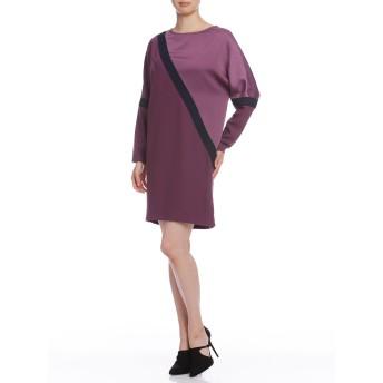 【75%OFF】バイアスデザイン ドレス VESTITO DA DONNA DRESS CREPE ENVER SATIN モーブ m