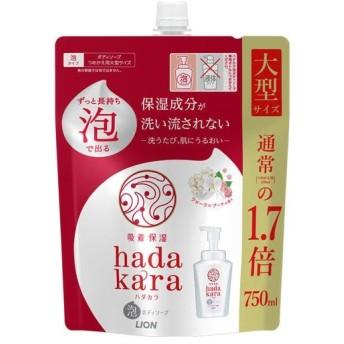hadakara(ハダカラ) ボディソープ 泡で出てくるタイプ フローラルブーケの香り つめかえ用 大型 750mL