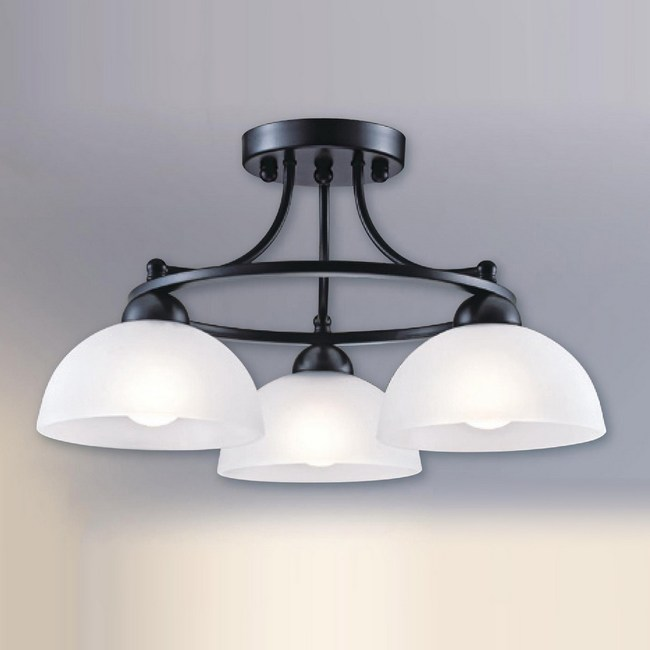 大巨光 台製現代風半吸頂燈 中 LW-09-2232