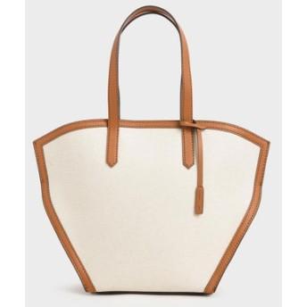 【再入荷】【2020 SPRING】ラージ ジオメトリックトートバッグ / Large Geometric Tote Bag (Cognac)