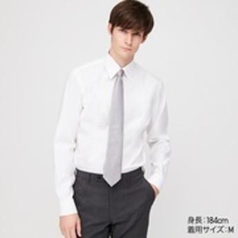 ファインクロススーパーノンアイロンスリムフィットシャツ(レギュラーカラー・長袖・ポケットなし)