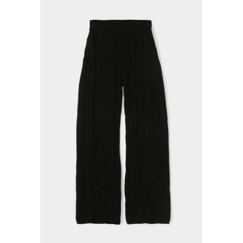 マウジー moussy CABLE KNIT PANTS (ブラック)