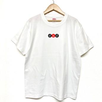 Tシャツ 『 dad 』 ネーム in サークル (横) 半袖 前面プリント メンズ