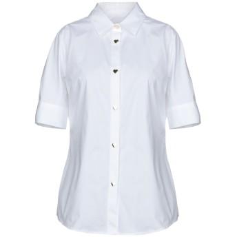 《セール開催中》LOVE MOSCHINO レディース シャツ ホワイト 38 97% コットン 3% ポリウレタン