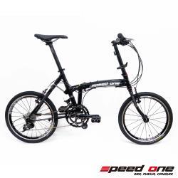 Speedone FS 20S鋁合金TwoCAMM避震系統20速406折疊單車-黑