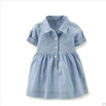 子供ミニワンピースノースリーブキッズファッション