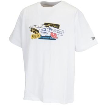 dポイントが貯まる・使える通販| ニューエラ NEW ERA WAPPEN 半袖Tシャツ L ホワイト 【dショッピング】 ポロシャツ・シャツ おすすめ価格