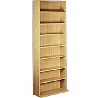 家具の赤や オリジナル薄型コミック収納 本棚 幅60cm 高さ180cm 奥行約22.5cm コミック約400冊収納可能 可動棚 大量収納 (ナチュラル)