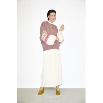 スライ SLY THROW PLEATS ロングスカート (オフホワイト)