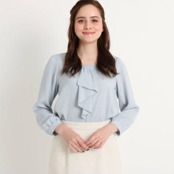 クチュール ブローチ Couture brooch 【ママスーツ/入学式 スーツ/卒業式 スーツ】ラッフルボウタイシャツ (サックス)