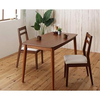 ダイニング3点セット(テーブル幅115+チェア2脚)[テーブル]ブラウン×[チェア]アイボリー2脚【AC060635】