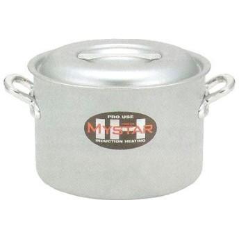 北陸アルミニウム 業務用 マイスター半寸胴鍋 24㎝ IH対応 アルミニウム合金 日本 AHV9203