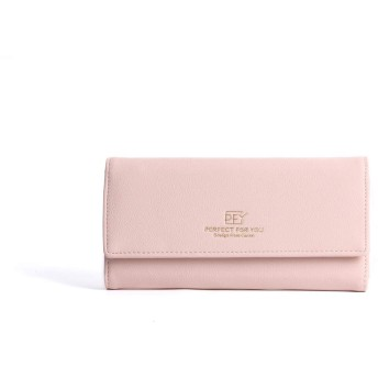 長財布 レディース 財布 大容量 PU フェイクレザー 多機能 (ピンク) [並行輸入品]