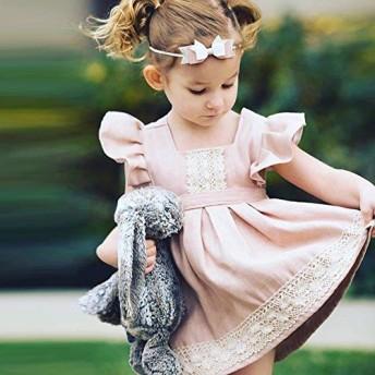 格安!80-90-100-110-120選択ベビーキッズ服アメリカンINS春夏ワンピース花柄刺繍レース