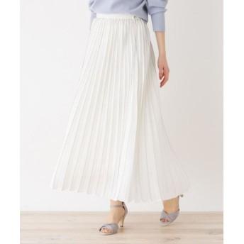 OPAQUE. CLIP/オペーク ドット クリップ プリーツデザインスカート ホワイト(001) 38(M)