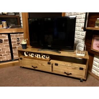 【横幅120cm】スタイリッシュ扉付きテレビボード 収納棚