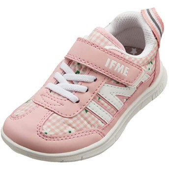 [セレブル] (イフミー) IFME 軽量 子供靴 スニーカー 女の子 男の子 キッズ 反射板 男児 女児 キッズシューズ ゴムヒモ 安全 安心 運動靴 通学靴 ピンク 16cm