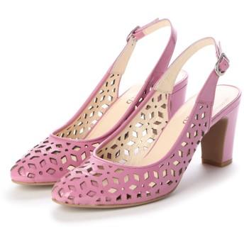 アンタイトル シューズ UNTITLED shoes バックバンドパンプス (ピンクスエード)