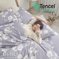 BUHO 舒涼TENCEL天絲雙人加大三件式床包枕套組(月下美人)