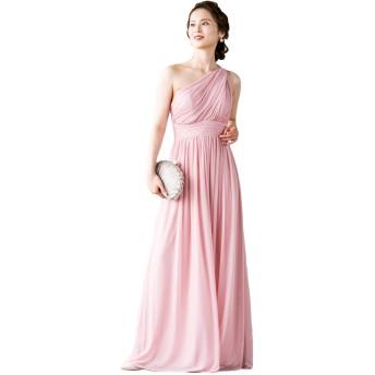 [アールズガウン]ロングドレス ワンショルダー パーティードレス レディース 演奏会 結婚式 お呼ばれ 大きいサイズ 発表会 イブニングドレス FD-210040 (XS, ピンク)