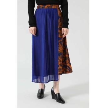 【ローズバッド/ROSEBUD】 異素材フラワープリントスカート
