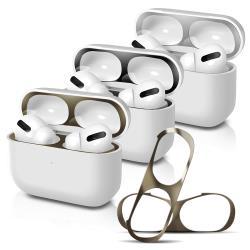 For AirPods Pro 金屬色防塵保護貼 耳機盒黑點防塵貼(2組入)