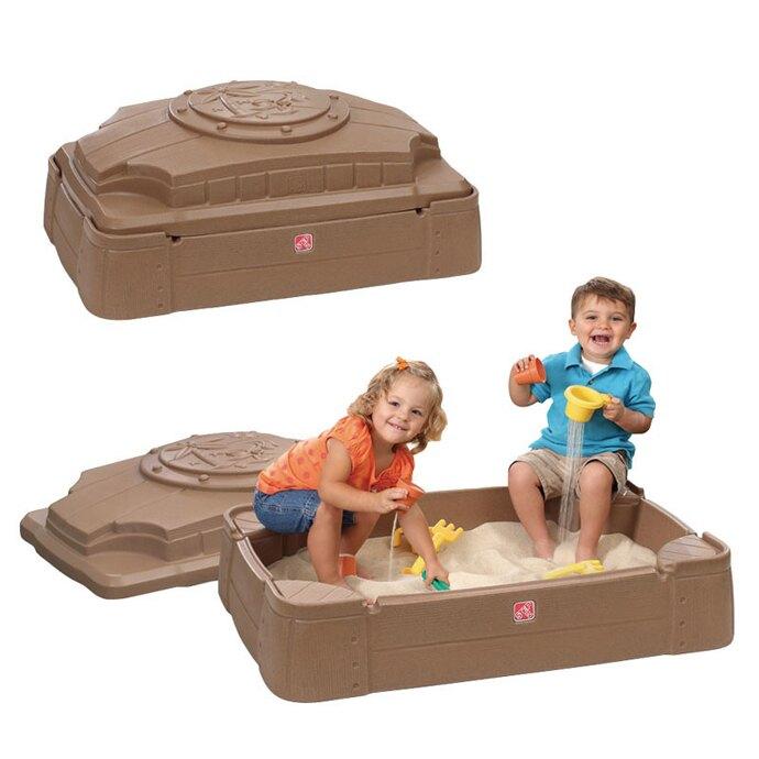 【華森葳兒童教玩具】戶外遊戲器材-Step2 儲藏式沙箱 A4-830200