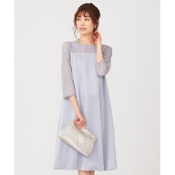【洗える】レースコンビサック ドレス