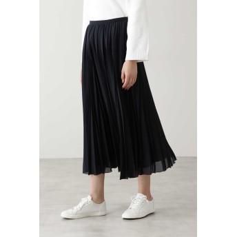 HUMAN WOMAN ◆スパンローンスカート ひざ丈スカート,ネイビー