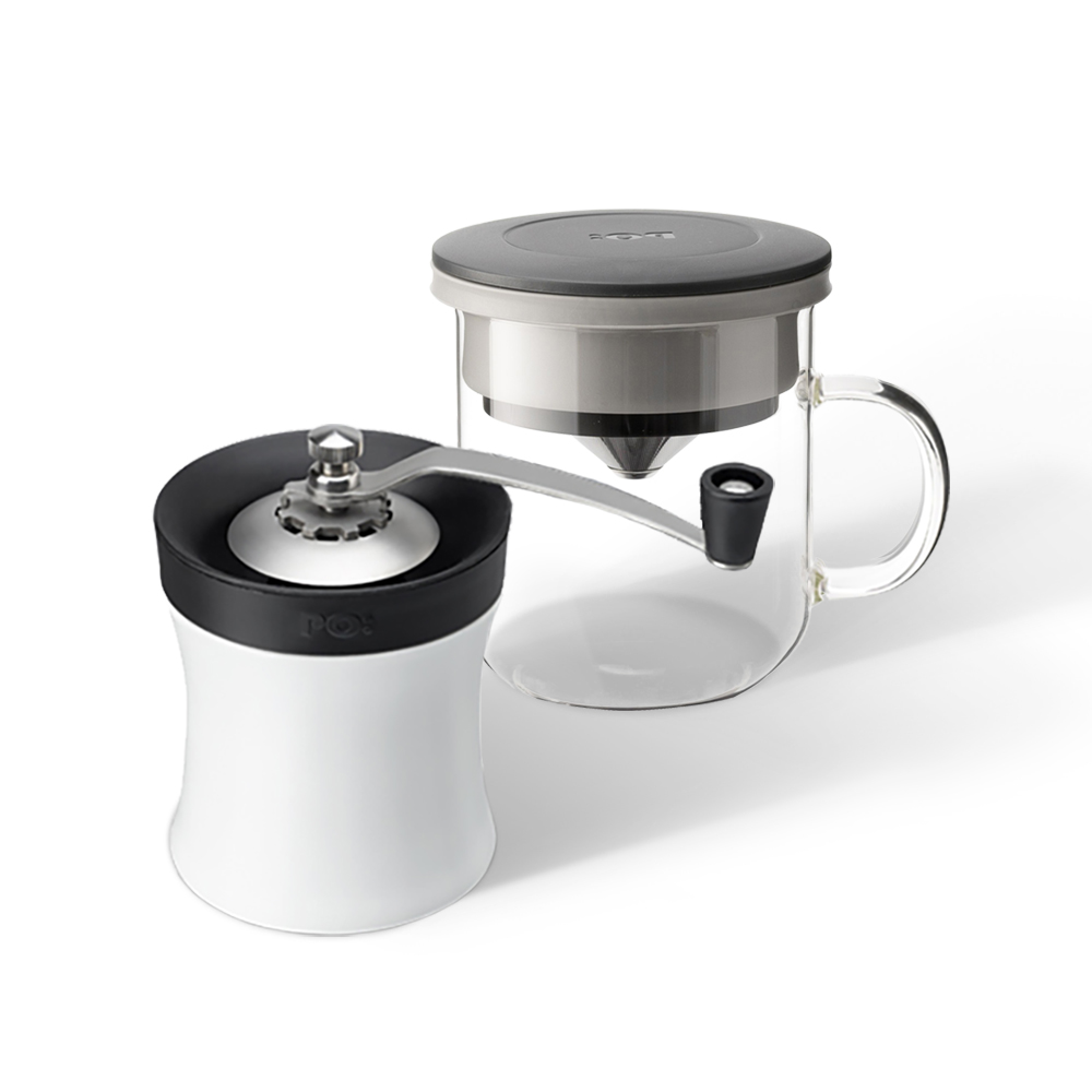 PO: Selected|丹麥設計智慧生活▶一體化咖啡豆研磨器與滴濾杯▶優化每個沖泡細節▶享受手動研磨的樂趣▶重新定義一人咖啡