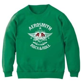 [8色]BANDLINE(バンドライン) Aero Smith エアロスミス バンド ロック パンク メタル スウェット ケリーグリーン Lサイズ