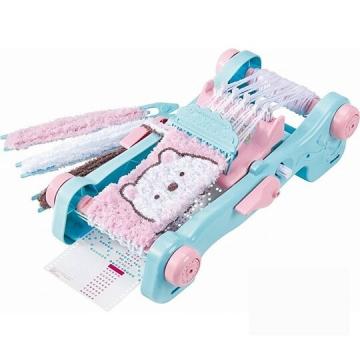 〔小禮堂〕角落生物 豪華DIY編織圍巾製作玩具組《藍粉》兒童玩具.手作