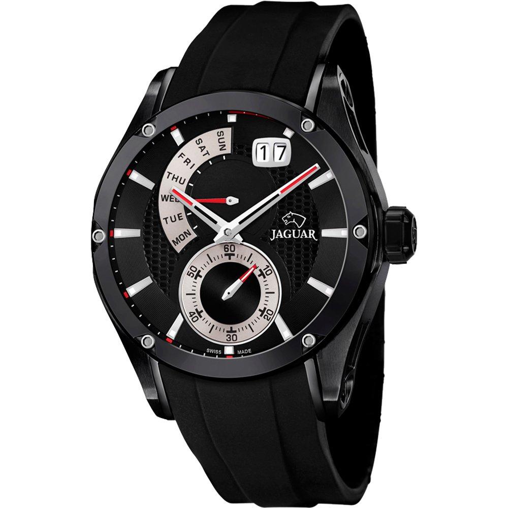 JAGUAR Special Edition 星期小秒針手錶-黑/44mm  J681/2