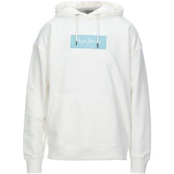《セール開催中》PEPE JEANS メンズ スウェットシャツ ホワイト S コットン 85% / ポリエステル 15%