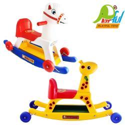 Playful Toys 頑玩具 搖搖馬+鹿91128(兩款造型 二合一 搖搖馬 滑步車 幼兒學步車)