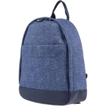 《セール開催中》TRUSSARDI JEANS メンズ バックパック&ヒップバッグ ブルー AS樹脂 85% / ポリエステル 15% / ポリウレタン樹脂