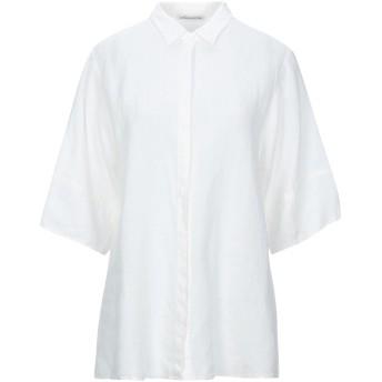 《セール開催中》STEFANO MORTARI レディース シャツ ホワイト 42 リネン 100%