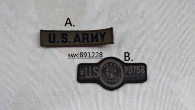手縫軍風徽章布貼、裝飾貼布、補丁、胸章、臂章--B708(A)