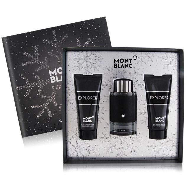 Montblanc 萬寶龍 EXPLORER 探尋旅者男性淡香精禮盒-淡香精+沐浴精+鬚後乳
