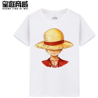 Luffy ルフィ ONE PIECE ワンピース メンズ/レディース Tシャツ/夏服 半袖 Tシャ