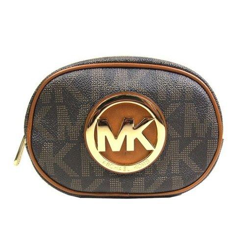 MICHAEL KORS 咖啡色 PVC材質化妝包-35H3GFTM1B