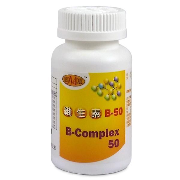 美天健-維他命B50錠(1000mg X 60錠)(一次購買6瓶,額外加送同商品1瓶)
