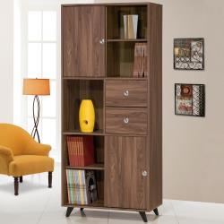 Homelike 雪麗2.7尺滑門書櫃